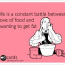 Love of Food versus Not Getting Fat