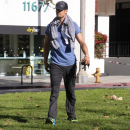 Josh Duhamel hits the Gym on Christmas