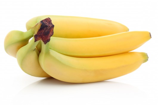 Bunch of ripe banana fruits isolated