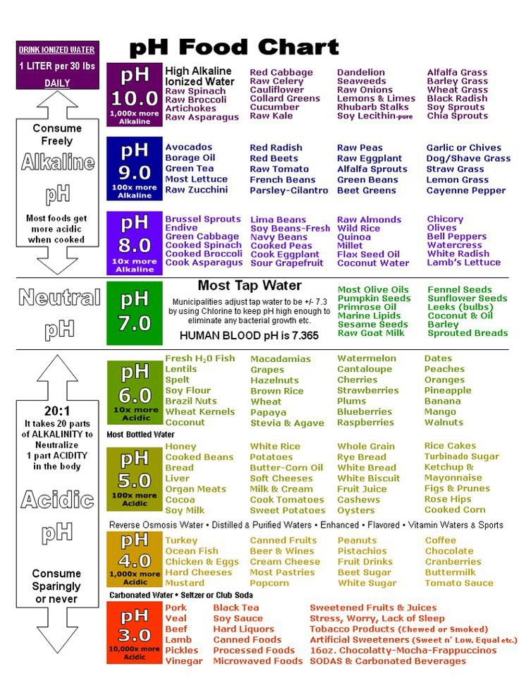 Ph Food Chart  Skinnytwinkie