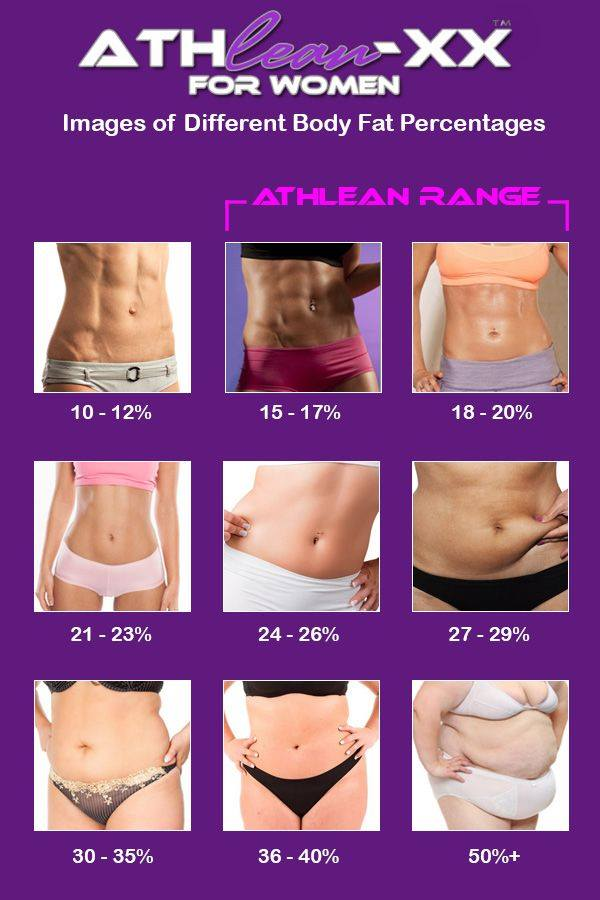 Percent body fat for women